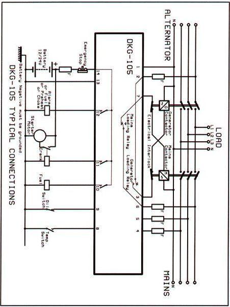 Dkg 105 схема подключения